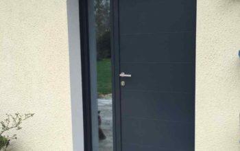 Porte d'entrée moderne et design en alu
