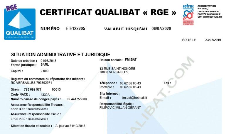 rge certificat fmbat